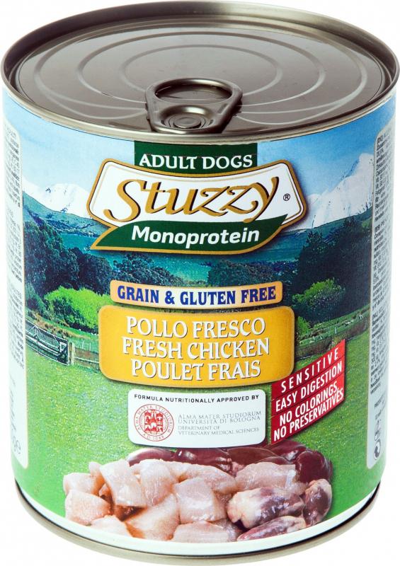 Pâtée Sans Céréales STUZZY Monoprotein 800g pour Chien Adulte