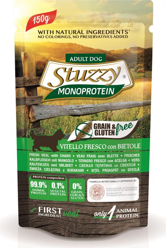 Pâtée Sans Céréales STUZZY Monoprotein 150g pour Chien Adulte