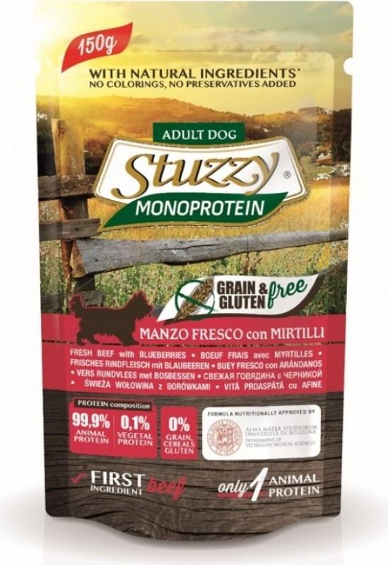 Pâtée Sans Céréales STUZZY Monoprotein 150g pour Chien Adulte - 5 Saveurs au Choix
