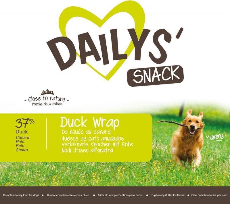 Prensado Para Wrap Perro De Hueso Pato Dailys Duck 0wv8mnN
