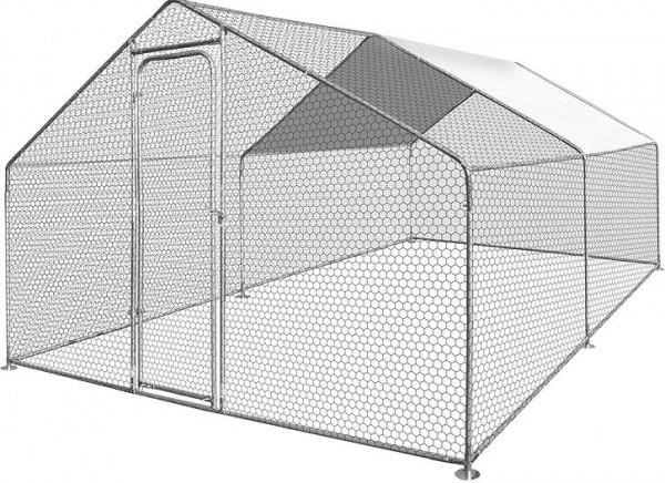 Grand enclos pour poules en métal Zolia - 6m², 12m² ou 18m²