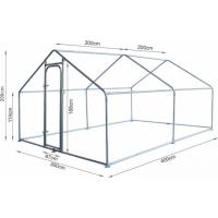 Grande cerca para galinhas em metal Zolia - 6m², 12m² ou 18m²