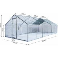 Grand enclos pour poules en métal Zolia ( Ø tube 38mm) - 6m², 12m² ou 18m²