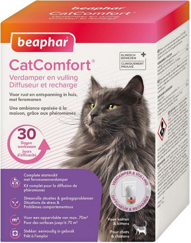 CatComfort, diffuseur et/ou recharge calmants aux phéromones pour chat et chaton