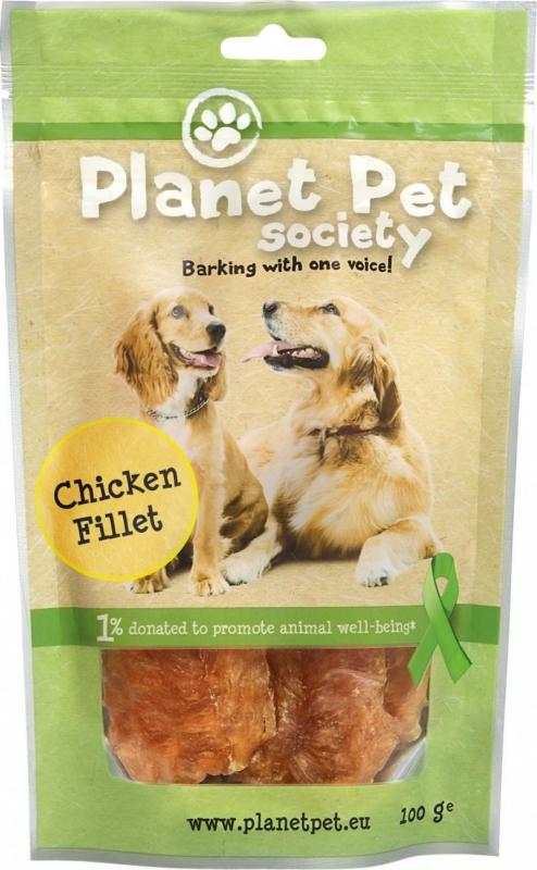Planet Pet Natuurlijke hondensnacks Chicken Filets - 3 maten