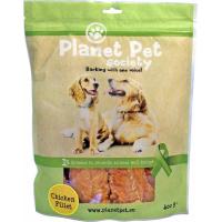 PLANET PET Friandises Naturelles Filets de Poulet pour Chien - 3 Tailles au Choix