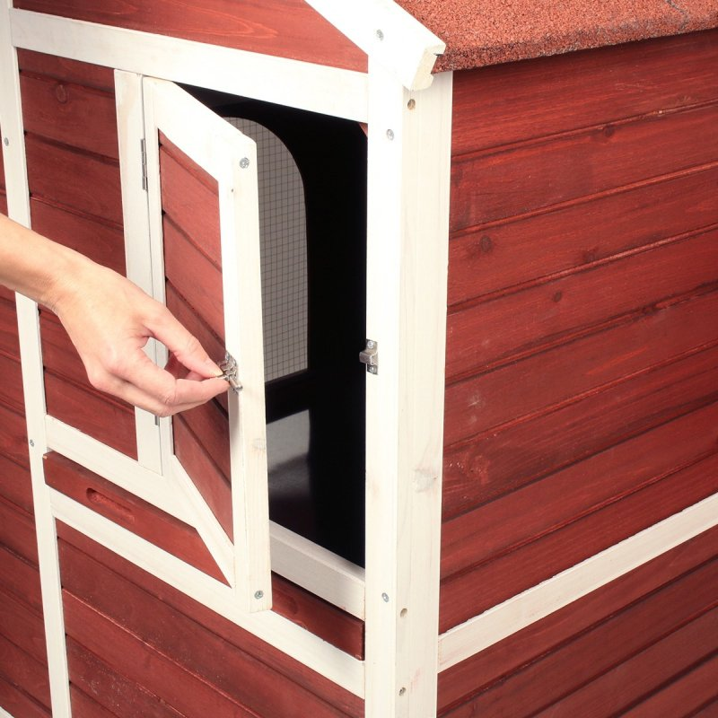Poulailler 4 poules avec enclos Zolia Wizzi - 147 cm