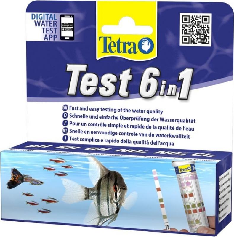 Tetra test pour eau d'aquarium bande 6 en 1