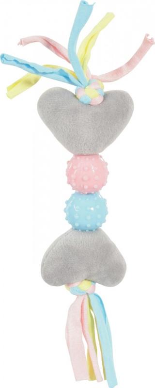 Jouet peluche pour chiot coeur, deux couleurs disponibles