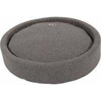 Coussin rond pour chien Milano coloris gris - plusieurs tailles