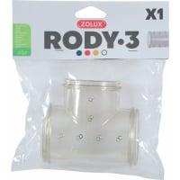 Tube en T pour cages Rody3 gris transparent