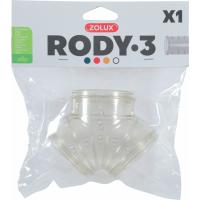 Tube en Y pour cages Rody3 gris transparent