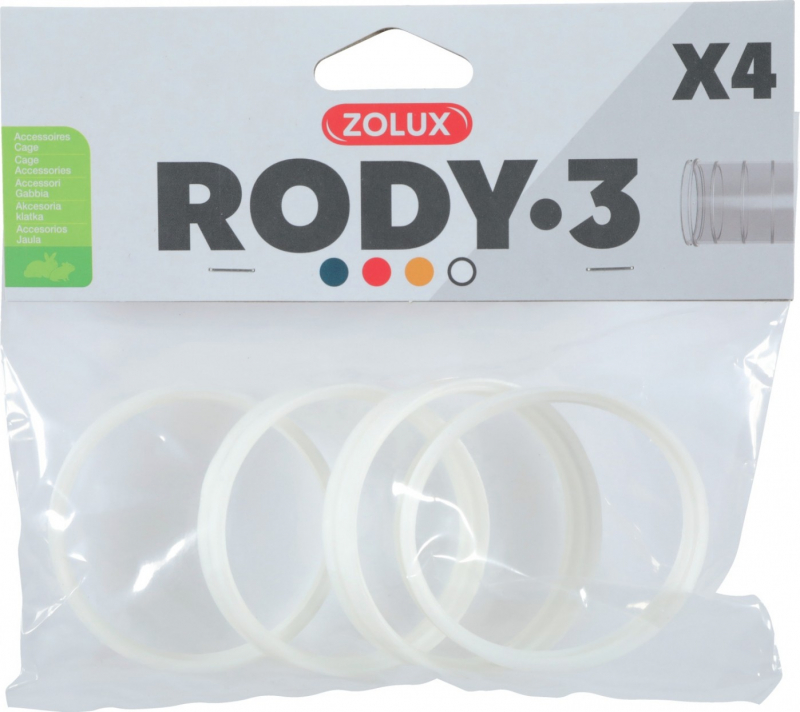 Pack de 4 anneaux de connection pour cages Rody3 - plusieurs coloris