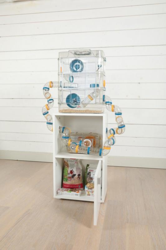 Meuble pour cage Rody3 et Rodylounge - blanc