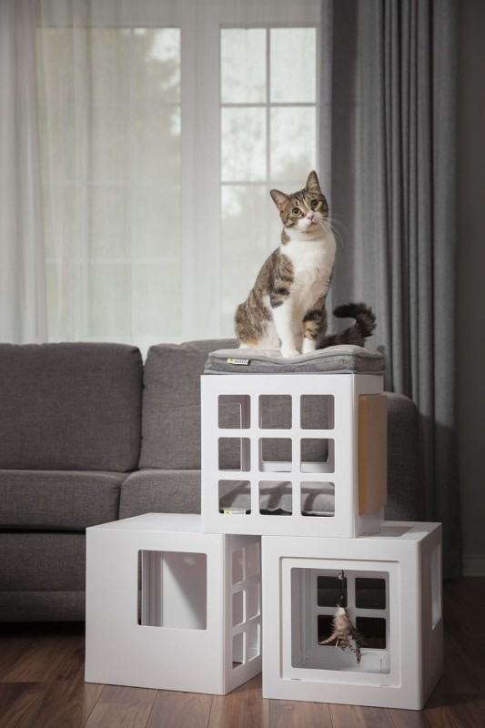 Árbol para gato personalizable Katt3 Be One Breed - Kit inicio 3 cubos