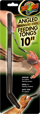 Pince de nourrissage courbée pour reptile - 25 cm