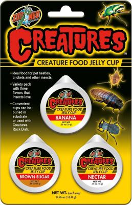 3 capusles de gelées pour insectes, grillons