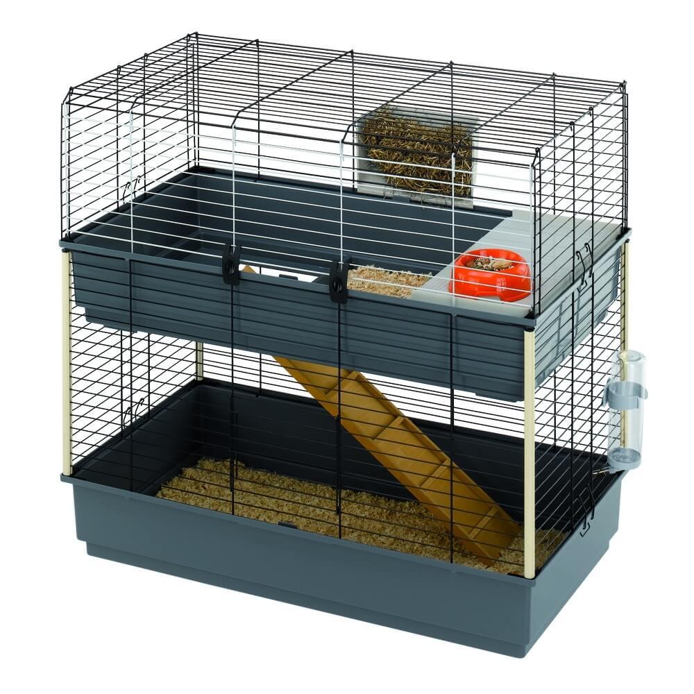 cage ferplast rabbit 100 double pour lapin et cobaye. Black Bedroom Furniture Sets. Home Design Ideas