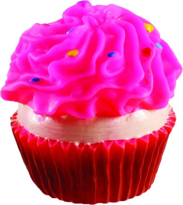 Jouet sonore pour chien En forme de cupcake : deux couleurs disponibles