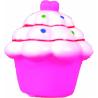 Jouet sonore pour chien Cupcake rose