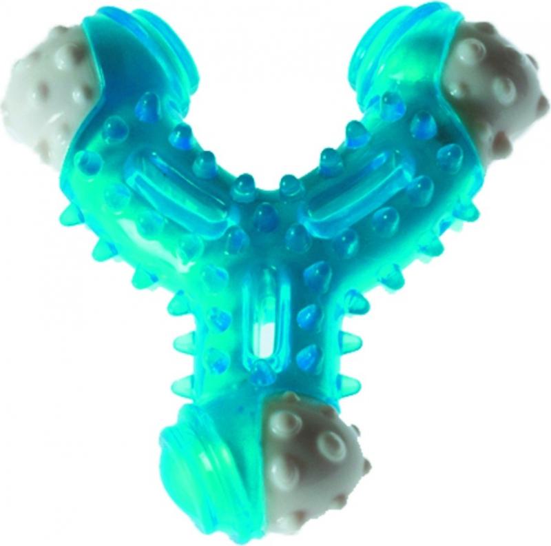 Jouet dentaire pour chien Os brechet bleu très résistant