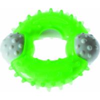 Jouet dentaire pour chiot en TPR anneau vert