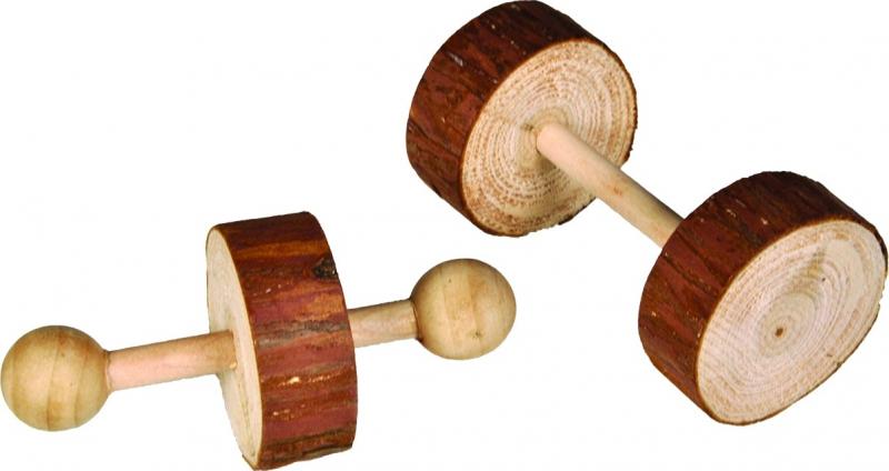 Pack de 2 Jouets pour rongeurs Haltères en bois