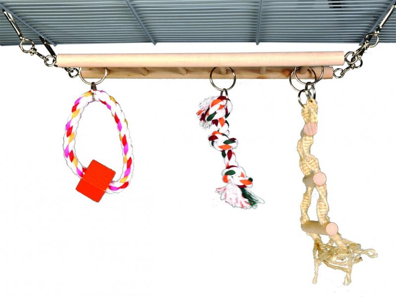 Jouet pour rongeurs Echelle en bois et accessoires de jeu