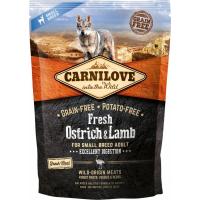 CARNILOVE FRESH Ostrich & Lamb Adulte de Petite Taille