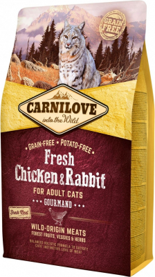 CARNILOVE FRESH Chicken & Rabbit pour Chat Adulte