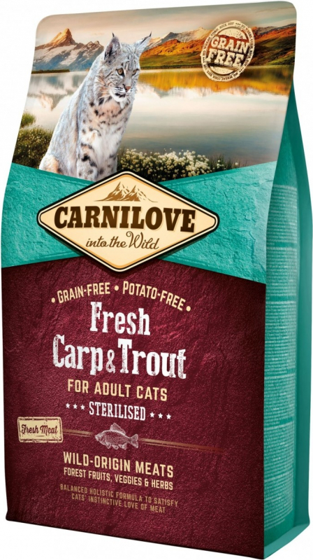 CARNILOVE FRESH Carp & Trout pour Chat Adulte