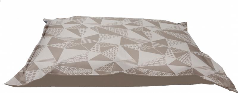 Be One Breed - Coussin pour chien à mémoire de forme Motif mozaique triangles - 91cm