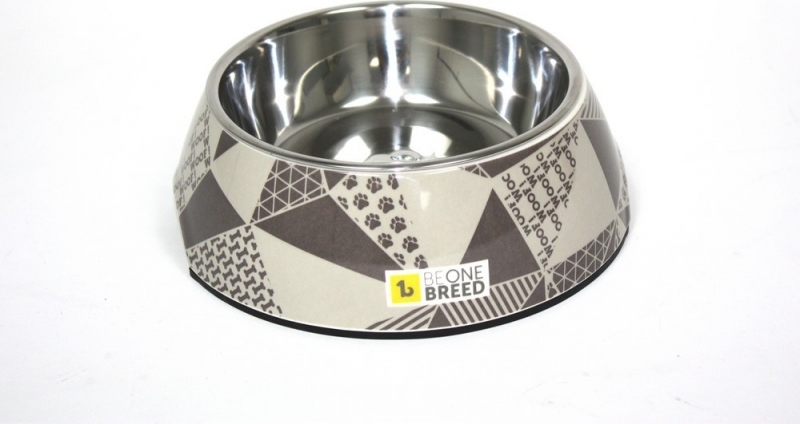 Be One Breed - Gamelle Design pour chien - Motif Triangle - Plusieurs tailles disponibles