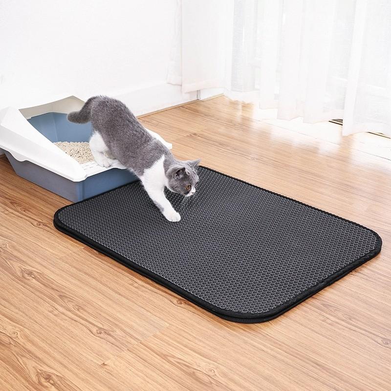 Tapis de litière XL pour chat alvéolé et facile à nettoyer Zolia