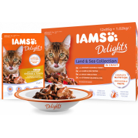 IAMS Delights Land & Sea in saus - 12x85g