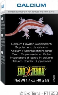 Soins pour reptiles supplément calcium + D3 Exo Terra 90g