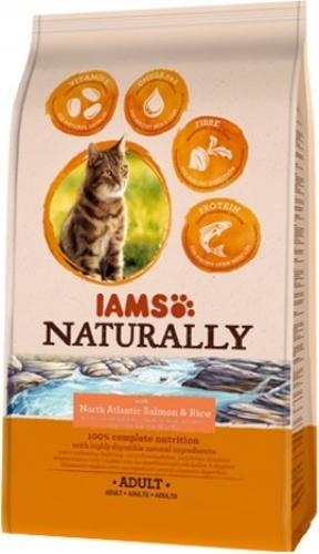IAMS Naturally Saumon de l'Atlantique et Riz pour Chat Adulte