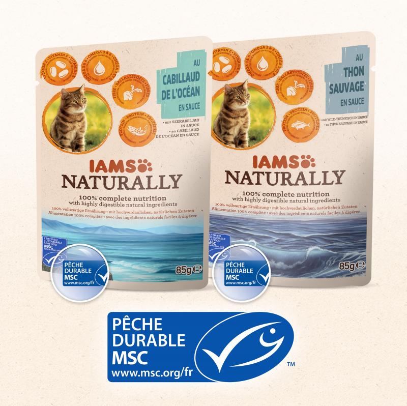 Pâtées IAMS Land & Sea Collection 85g pour Chat Adulte
