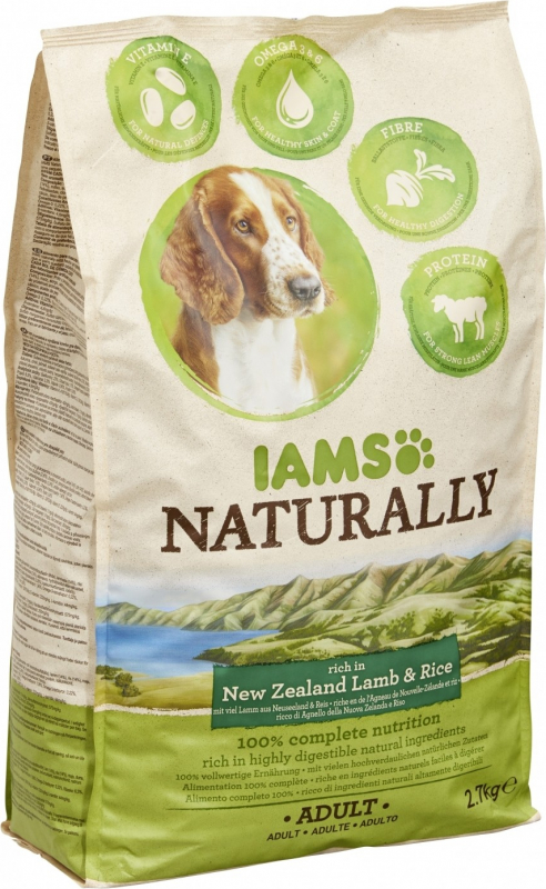 IAMS Naturally New Zealand Lamb & Rice pour Chien Adulte
