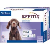Virbac EFFITIX Pipettes Spot-On anti-puces, anti-tiques avec effet répulsif contre phlébotomes et moustiques