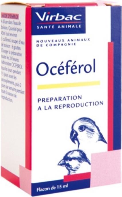 Virbac Oceferol Vitamine E pour la reproduction des oiseaux