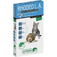 Greenvet Rhodeo L.A. Pipettes répulsives actifs naturels pour chiot et chaton
