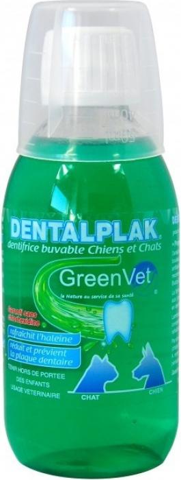 GREEN VET Dentalplak - Dentifrice Buvable pour chien et Chat