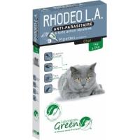 Greenvet Rhodeo L.A. Pipettes répulsives actifs naturels pour chat