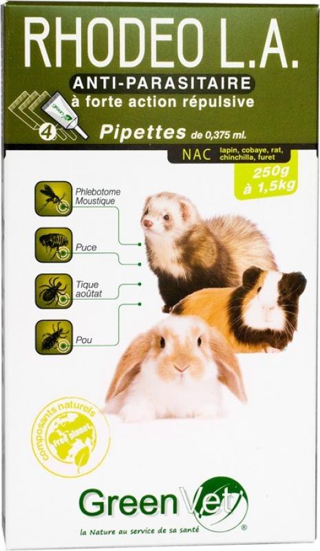 Greenvet Rhodeo L.A. Pipettes répulsives actifs naturels pour NAC