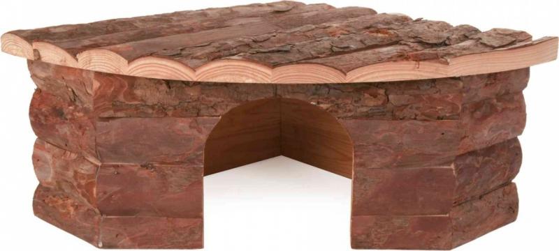 Maison d'angle en bois Zolia pour rongeurs - 3 tailles disponibles