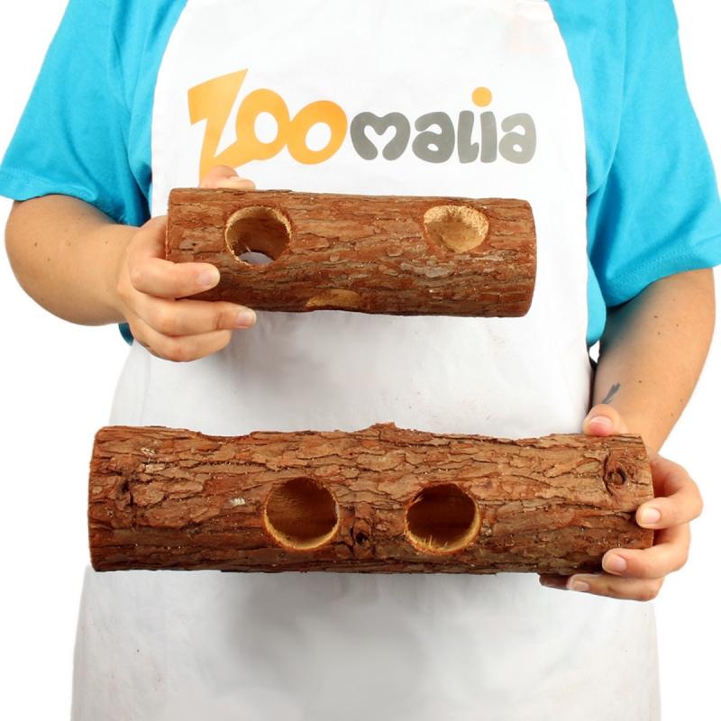 Tunnel en bois pour petits rongeurs Zolia - 2 tailles disponibles