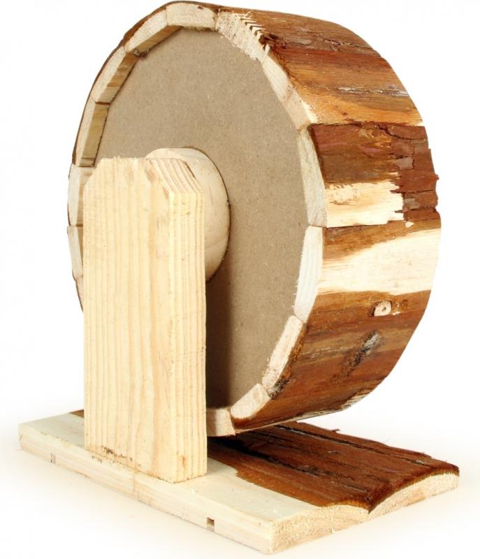 Roue d'exercice en bois naturel pour Rongeurs Zolia