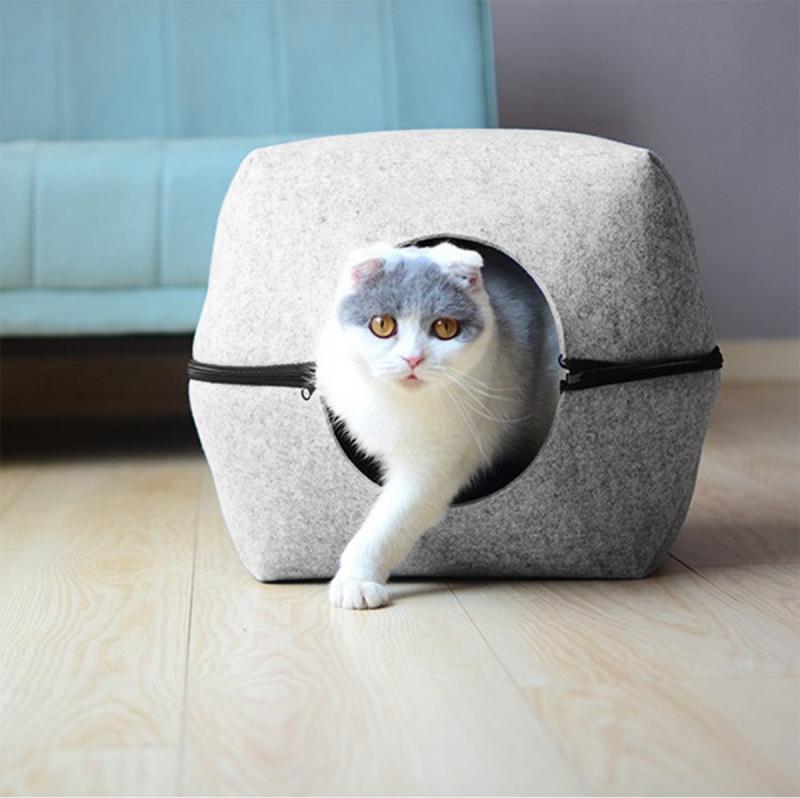 Niche en feutrine Zolia Scarlet pour chat