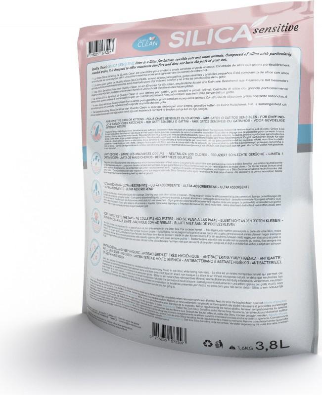 Litière pour chat Silica Pearl Sensitive idéale pour chatons ou chats sensibles